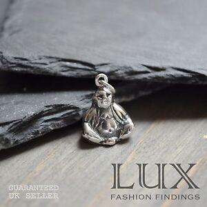 81stgeneration Womens .925 Sterling Silver Buddha Buddhist Meditation Stud Earrings