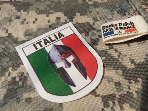 SNAKE PATCH écusson ITALIA SPARTAN ITALIE SPARTIATE 300 molon laabe ITALY