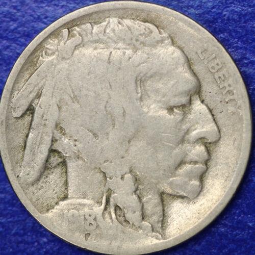 1918 S Buffalo Nickel 5c Cent Good GD Condition
