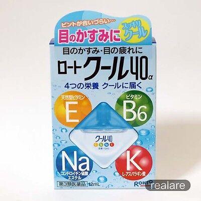 Cool 40alpha 4 nutrients Cool sensation Eyedrops 12ml ROHTO JAPAN
