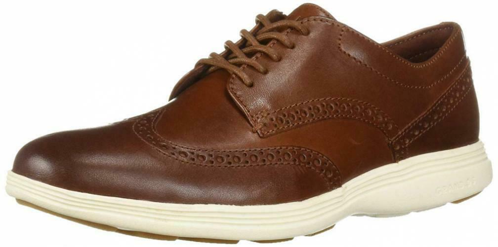 Cole Haan Para Hombre Grand Tour Wing Oxford Woodbury Marfil plana