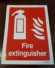 Signo de fuego extinguiser 200mm X 150mm Auto Adhesivo/Adhesivo con respaldo