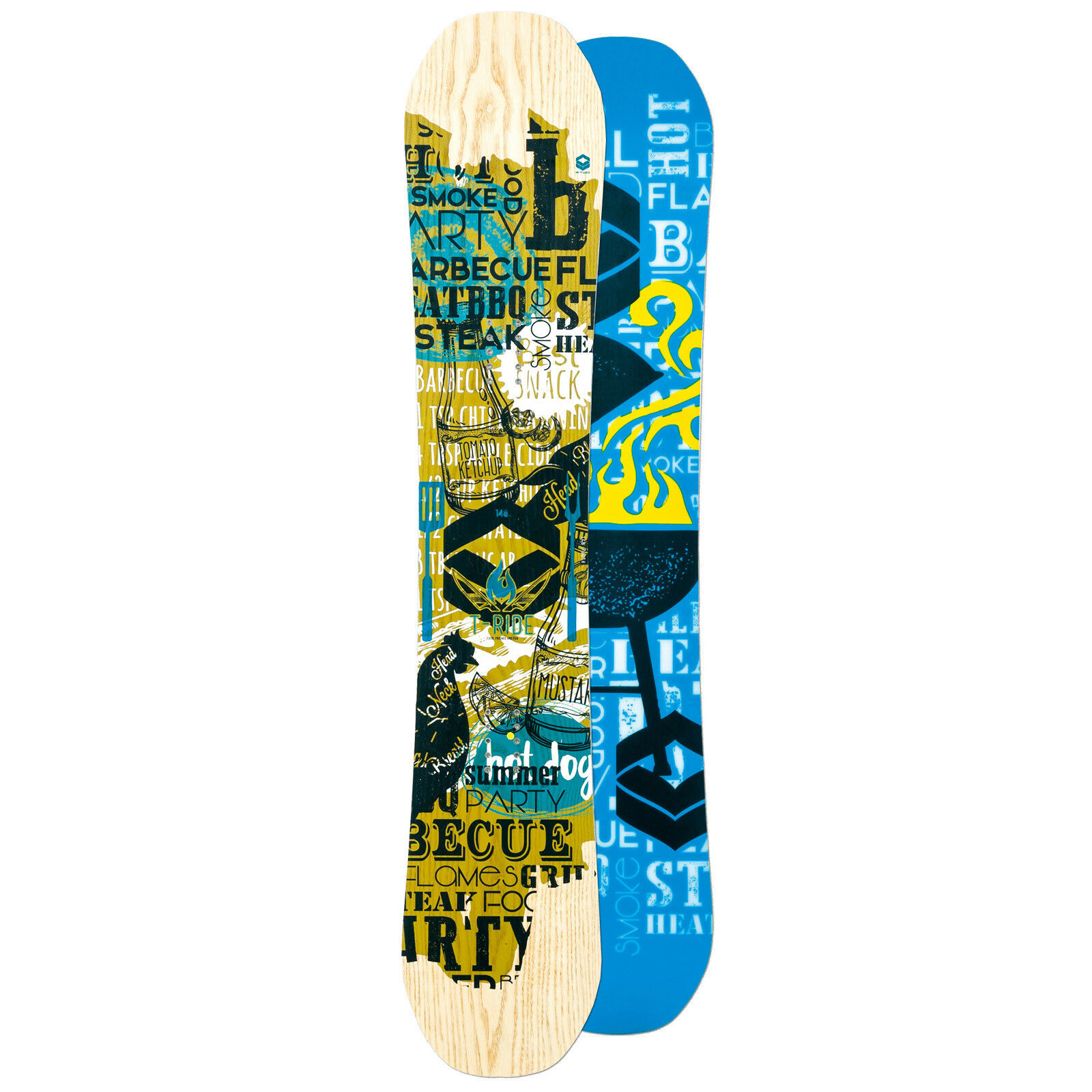 HERREN FREESTYLE CAMBER SNOWBOARD FTWO T-RIDE  162 CM WIDE