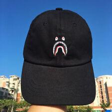 fe72ca5462b3 2019 A BATHING APE BAPE Black White Camo Shark Camo HipHop Snapback Cap Hat