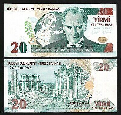 UNC CONDITION. TURKEY 5 NEW LIRA 2005 P 217