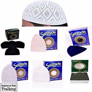 de6ad8d3e9be4 1 to 12 pcs Islamic Muslim Cap Knitting Kufi Prayer Hats - Takke