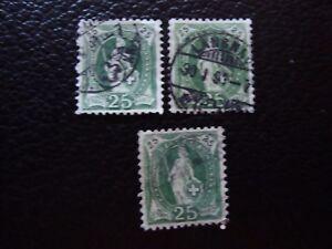 Switzerland-Stamp-Yvert-and-Tellier-N-72-x3-Obl-A5-Stamp-Switzerland