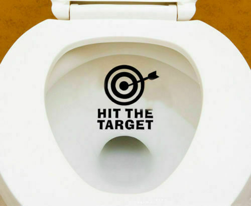 Funny Hit The Target Toilet Seat Vinyl Decals Removable Bathroom Wall Stickers For Sale Online Ebay