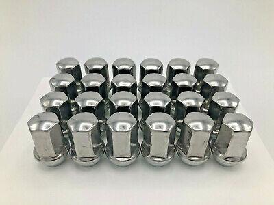 24 Chevy Silverado OEM Factory Style Chrome Lug Nuts 14x1.5 Fits Tahoe Blazer