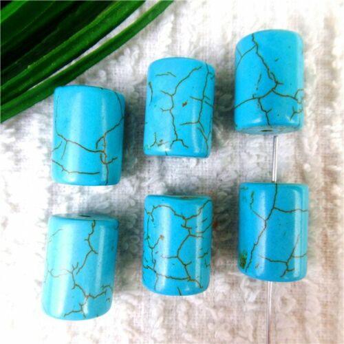 Plusieurs forme Choix bleu turquoise Hauteur Trou Spacer Loose Beads À faire soi-même HH6321