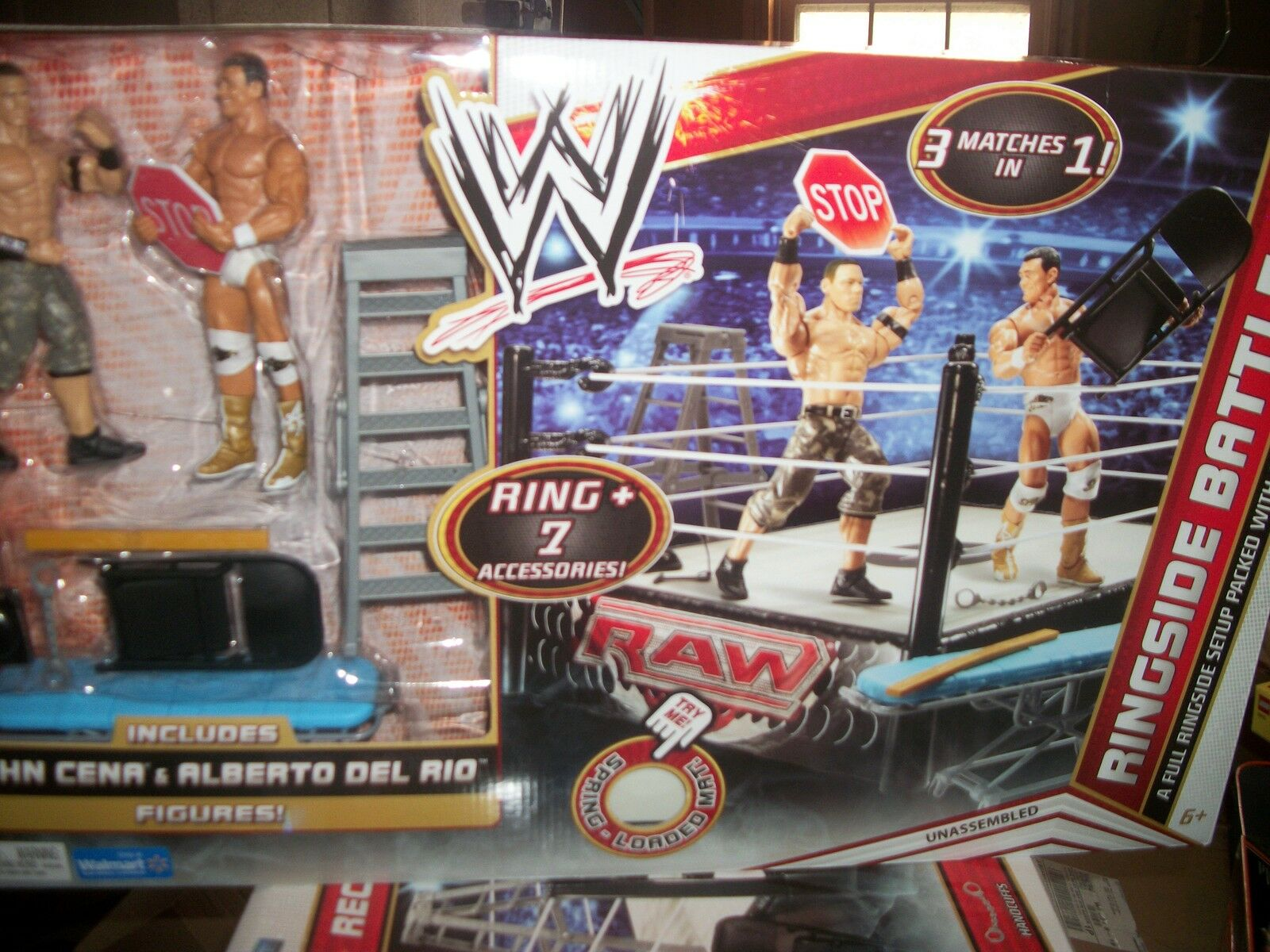 New WWE No DQ Stretcher Match 3-1 Ring + Cena  Del Rio 7 Ring Side Battle  NEW