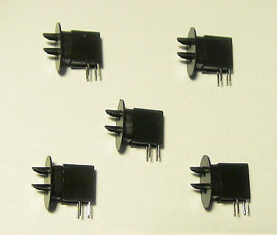5 NEW HO SCALE 2 POSITION GREEN OVER RED D  TYPE DWARF SIGNALS