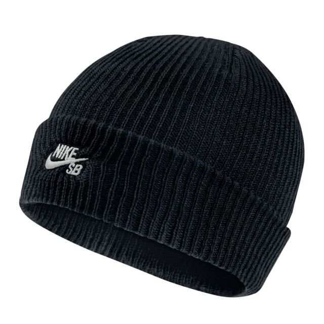 Nike SB Fisherman Knit Hat Mens Beanie Black 1Size Sportswear Lightweight