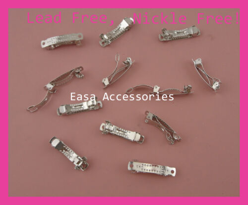 50PCS 3.0cm Silver Finish Mini Plain Metal French for DIY,Nickle free,Lead free