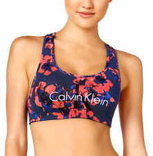 NEW Genuine CALVIN KLEIN Floral Cross-back Bralette Sports Bra Womens Medium