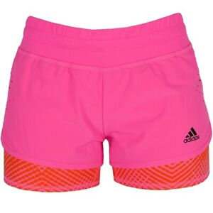 Details about Adidas 2in1 Short Ladies Running Pants Fitness Sports Pants  Training Pants Short Neon Pink- show original title