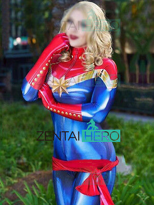 3d Printing Ms Captain Marvel Carol Danvers Costume Women Cosplay Superhero Suit Ebay About 3% of these are tv & movie costumes, 0% are women's trousers & pants, and 0% are zentai / catsuit. 3d printing ms captain marvel carol danvers costume women cosplay superhero suit ebay