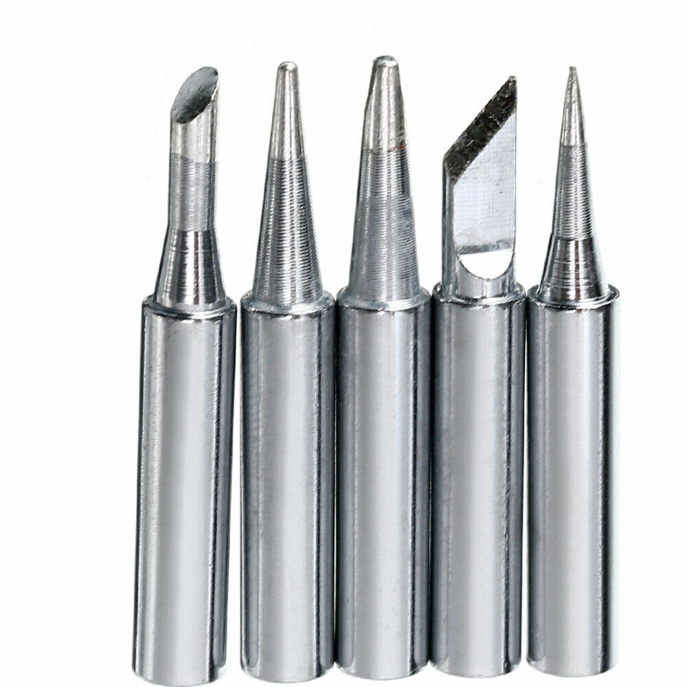 16 PCS Lead Free Replacement Soldering Tools Solder Iron Tips Head 900m-T Black