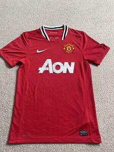 Man Utd Manchester United 2011-12 Home Short Sleeve Football Shirt S Small Men's