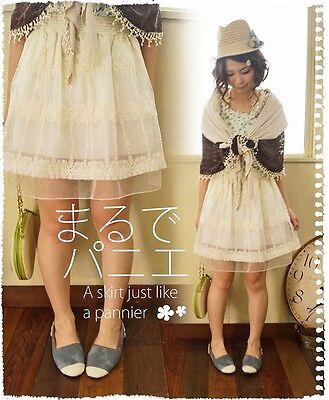 Jupon Jupe tulle Mori Girl superposition dentelle lolita doll cawaii gyaru Japon