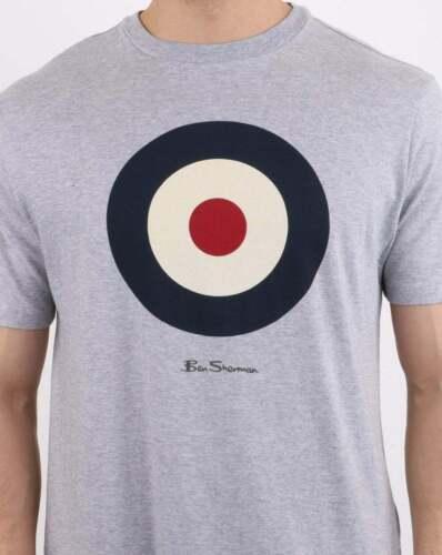 Ben Sherman Target T-Shirt-Gris-Bnwt