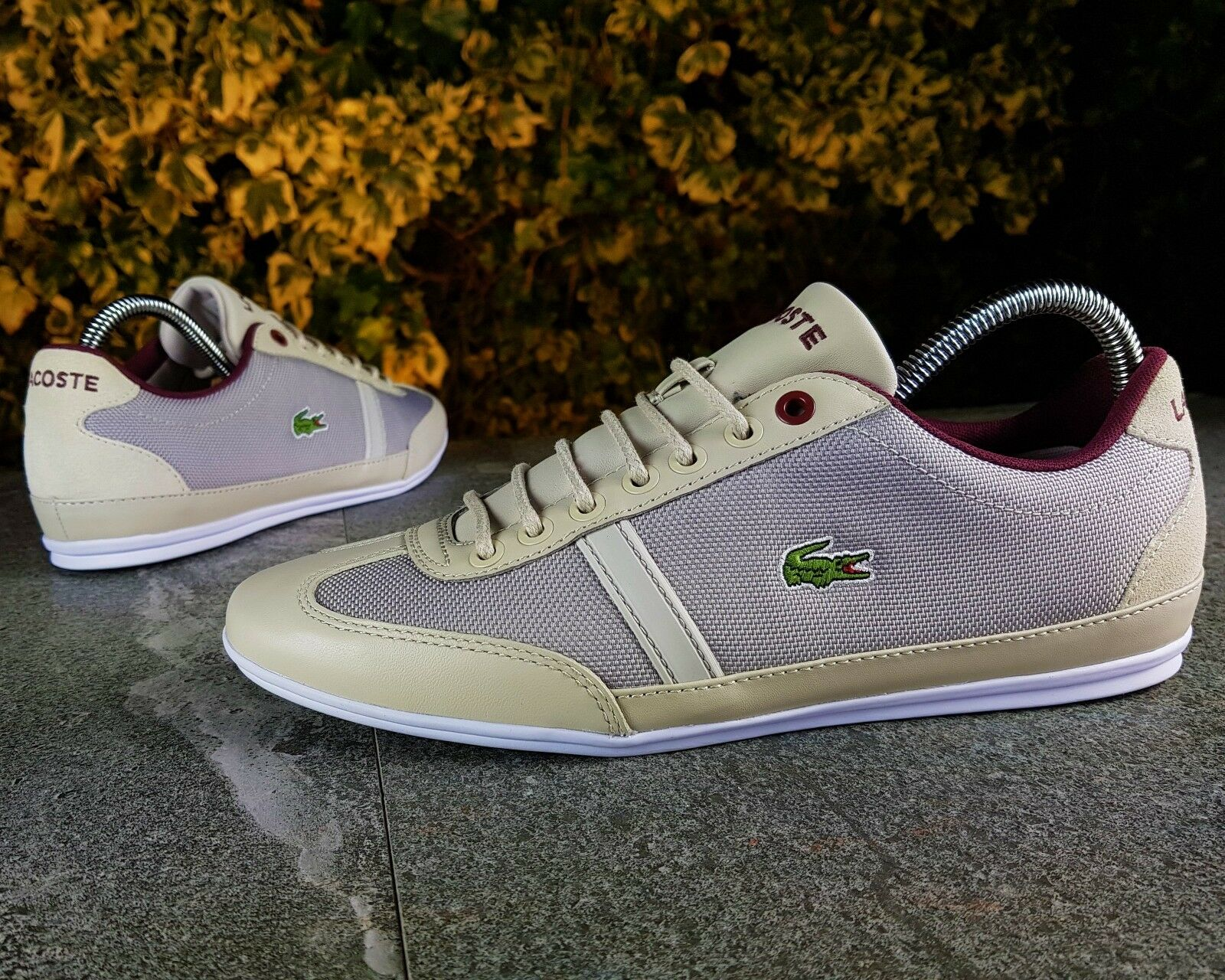 BNWB BNWB BNWB & Authentic Lacoste ® Misano SP Sport Luce Grigio Ecru scarpe da ginnastica | lusso  | Uomini/Donne Scarpa  be2f93