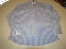 Ben Sherman 15 1/2 32-33 Mens long sleeve button up dress casual shirt blue EUC@