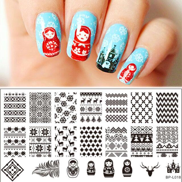 Born Pretty Nail Art Stamping Plate Russian Doll Pattern Image