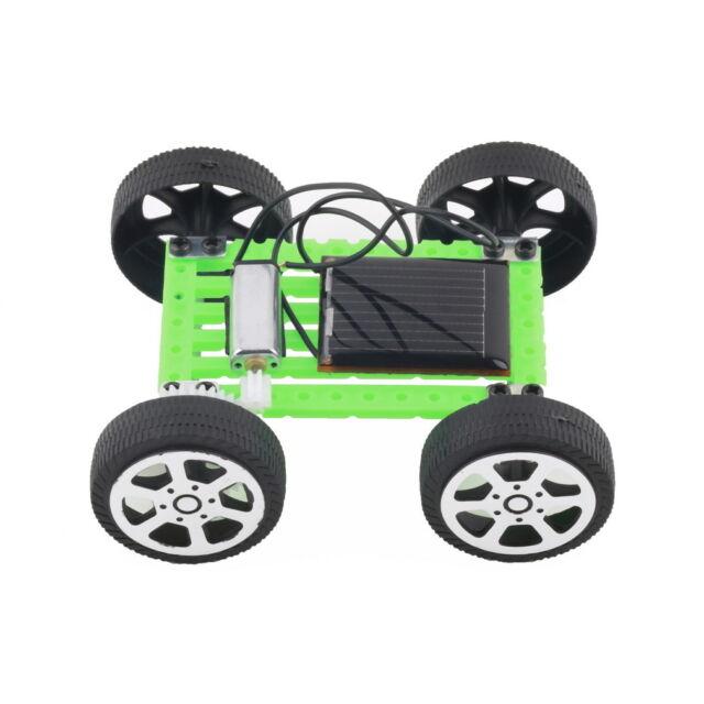 Mini Solar Powered Toy DIY Car Kit Children Educational Gadget Hobby Funny Toy