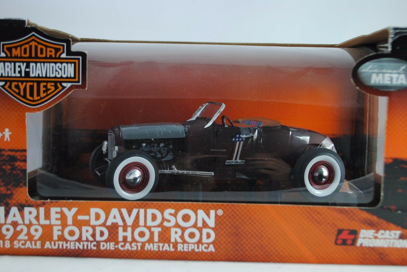 1:18 Highway 61 1929 Ford Model Hot Rod Harley Davidson  1 Rarità Nuovo/Scatola Originale