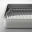 miniature 3 - KONCIS-Roasting-pan-with-grill-rack-stainless-steel-16x13-034-NEW