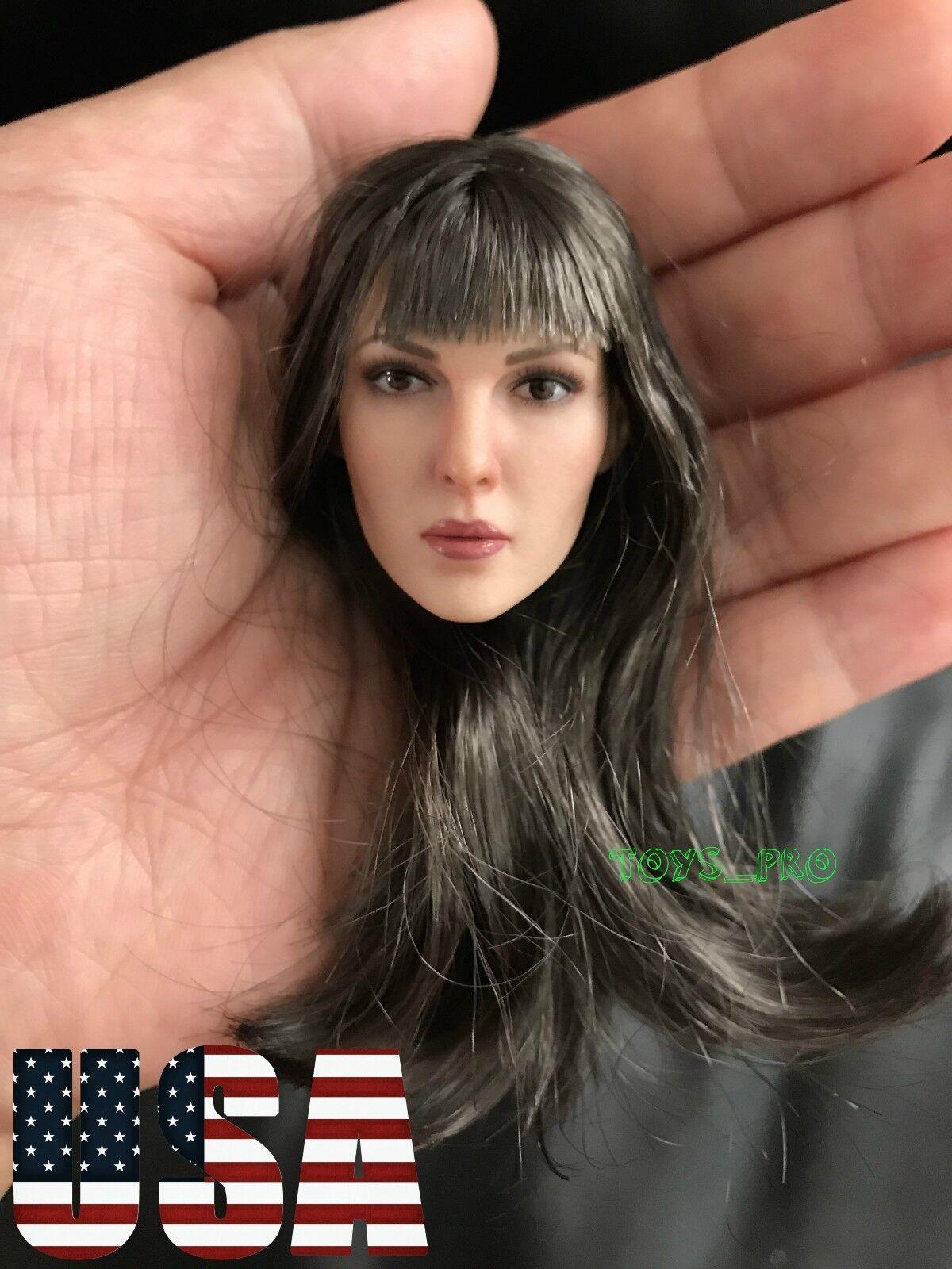 1 6 Female PALE Head Sculpt Long Hair For 12'' PHICEN Figure KT0011 A ❶USA❶