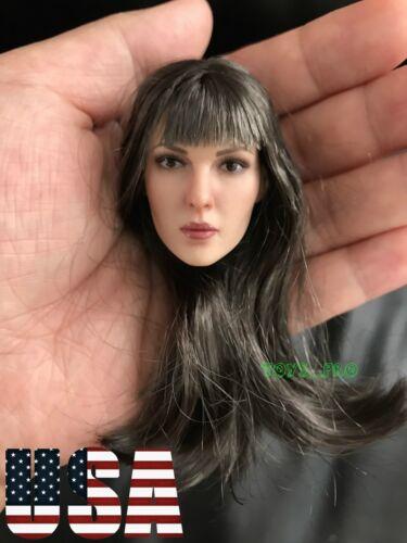 1//6 Female PALE Head Sculpt Long Hair For 12/'/' PHICEN Figure KT0011 A ❶USA❶