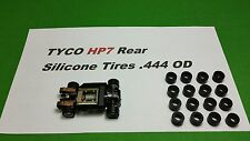 TYCO HP7 REAR silicone tires 16 piece Lot .444 mounted OD slot car hopups parts