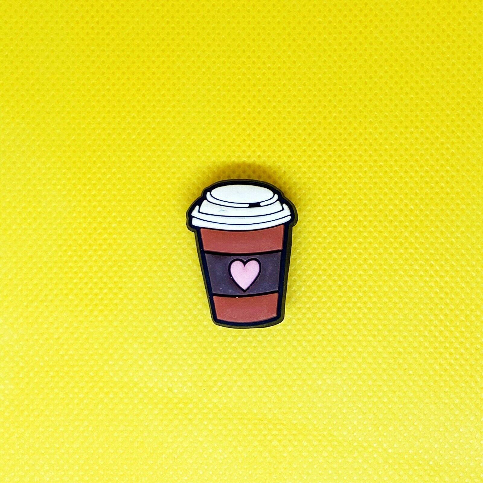 Cartoon Shoe Charms - Cute Coffee Cup - Crocs Compatible