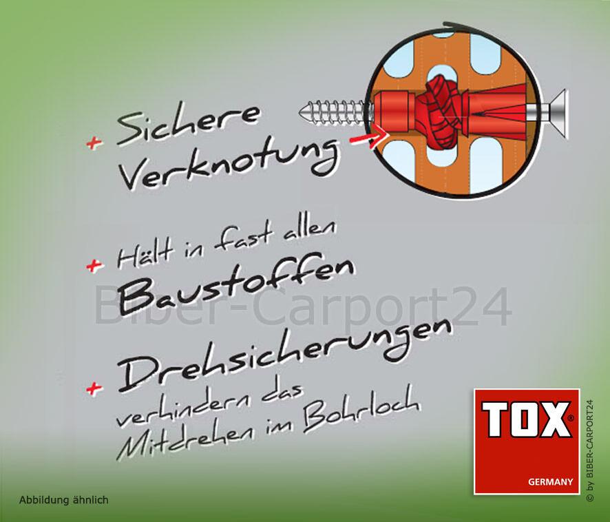 TOX Tri Mehrzweckdübel Allzweckdübel  5//31 6//36 6//51 7//36 8//51 10//61 12//71 14//75