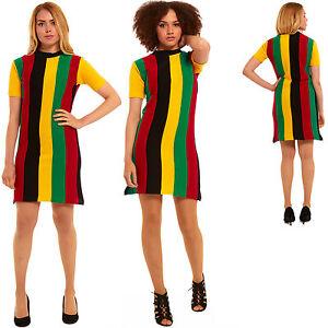 New Womens Xmas Christmas Party Tunic Rasta Dress Sweater Retro