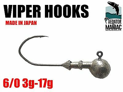 Round jig heads 6//0 MUSTAD hooks.3pcs .34-50g Rutland,zander,pike,perch