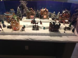 Department 56 Christmas Village Display.Other Department 56 Christmas Village Display Base Platform