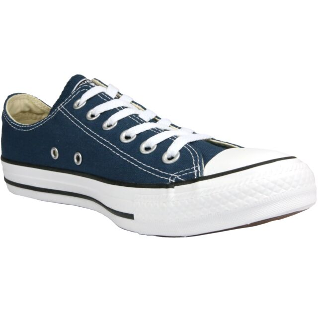 Converse All Star Navy Blau Low Top Turnschuhe Sneakers Größe 4
