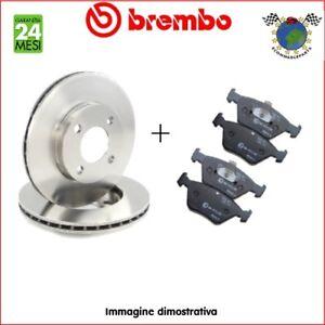 Kit-Dischi-e-Pastiglie-freno-Ant-Brembo-MERCEDES-CLASSE-C-200-180-brj