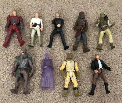 9 X Vintage Kenner Star Wars Action Figures Dated 1996-1998 Schnelle Farbe