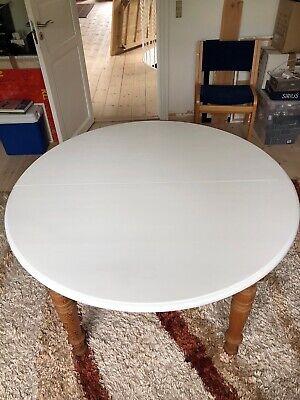 Find Spisebord Hvid Rund i Til boligen Køb brugt på DBA