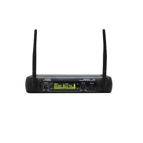 DUAL WIRELESS HANDHELD MICROPHONE SYSTEM-MR Audio2000/'S AWM6074U UHF