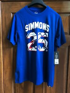 206cbbc1ac6 NWT  47 Brand Mens Philadelphia 76ERS Ben Simmons Super Rival Tee ...