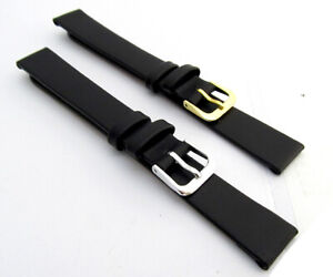 CONDOR-Extra-Long-Smooth-Grain-Calf-Leather-Watch-Strap-081L-14mm-Black