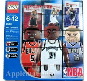 NEW-LEGO-3566-NBA-Collectors-Sports-Kevin-Garnett-Jalen-Rose-PS-Minifigures