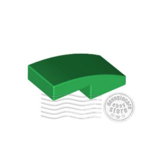 8x Lego 11477 Sloped Curved 2x1 Green6047426