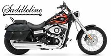 SADDLELINE HARLEY-DAVIDSON DYNA WideGlide FXDWG  Leather panniers saddlebags