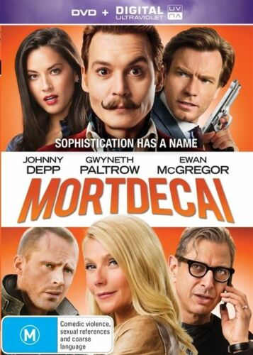 1 of 1 - Mortdecai DVD & Ultraviolet Edition Gwyneth Paltrow Jeff Goldblum Johnny Depp